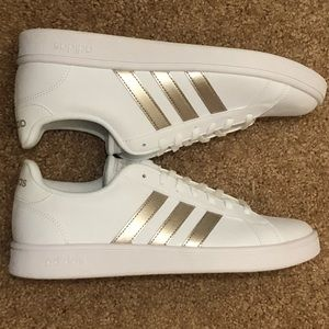 Adidas Grand Court Base Platinum/White